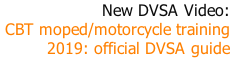 New DVSA Video: CBT moped/motorcycle training  2019: official DVSA guide
